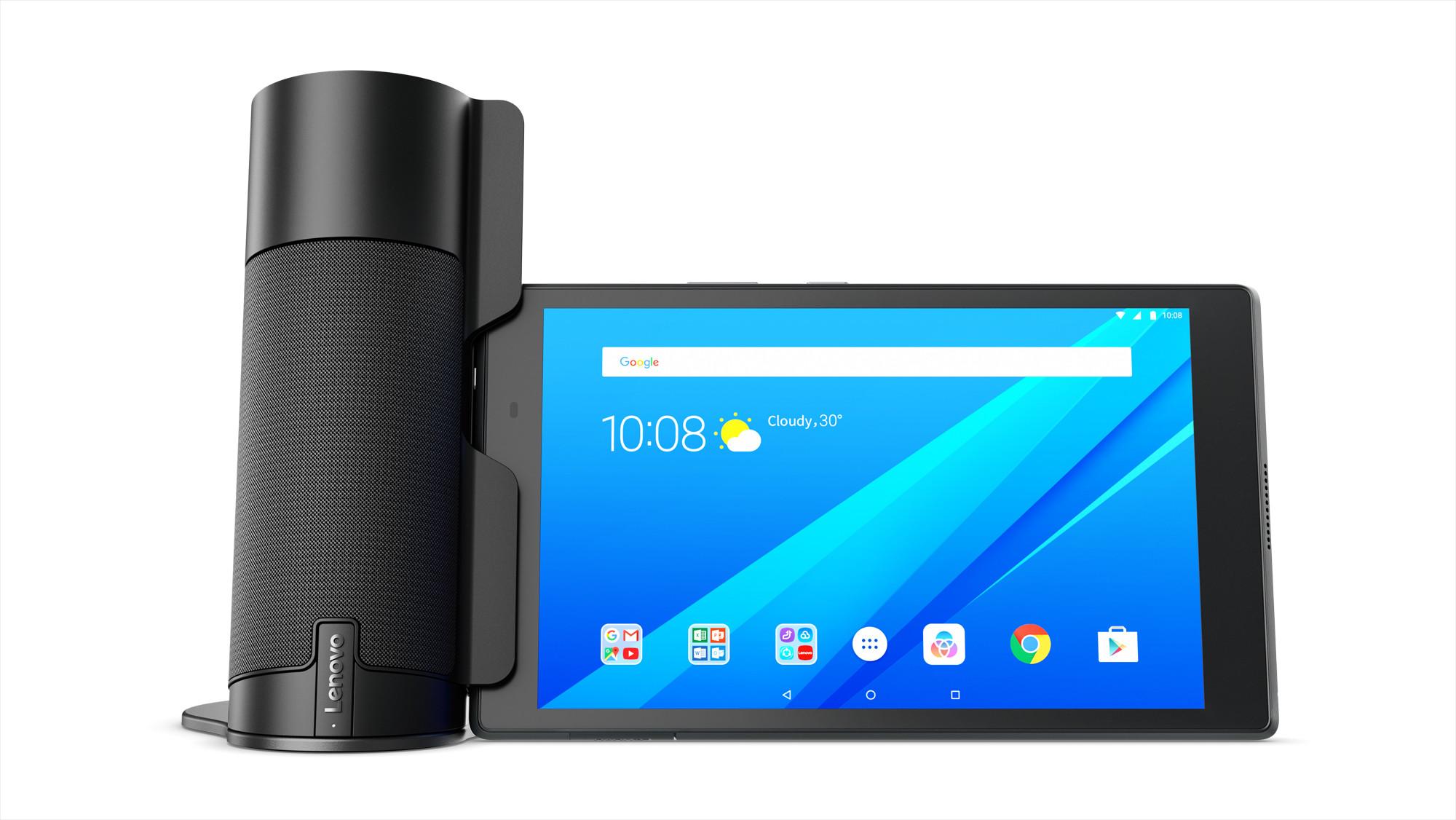 Lenovo Presenta Su Nuevo Altavoz Con Alexa Para Su Tab 4