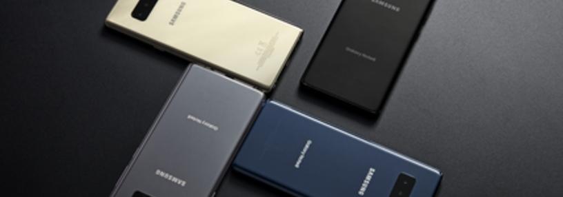 Cabecera de Galaxy Note 8