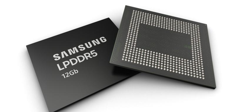 Samsung comienza la producción de chips de DRAM tipo LPDDR5 de 12 Gb
