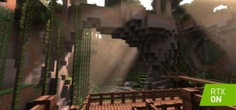 Microsoft y Nvidia añaden trazado de rayos a 'Minecraft'