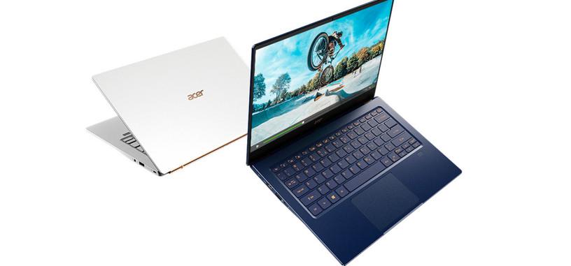 Acer presenta el Swift 5 2019 de 14 pulgadas con i7-1065G7, MX 250 y 990 gramos