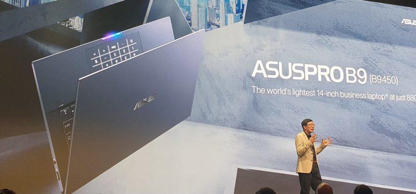 El renovado ASUSPRO B9 es el nuevo ultraportátil más ligero con 880 gramos