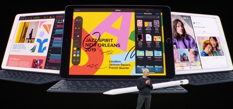 Apple anuncia el iPad 2019, más pantalla por 329 dólares