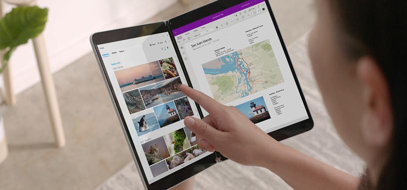 Windows 10X es una versión para los PC de doble pantalla, como la tableta Surface Neo