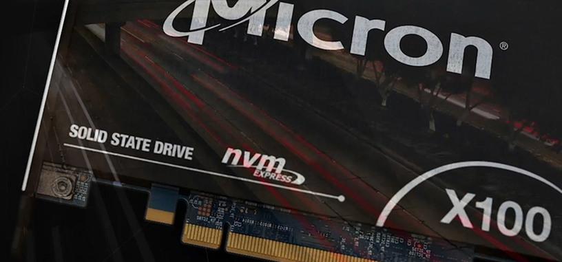 La X100 es la primera SSD de Micron que utiliza memoria 3D XPoint, alcanza los 9 GB/s