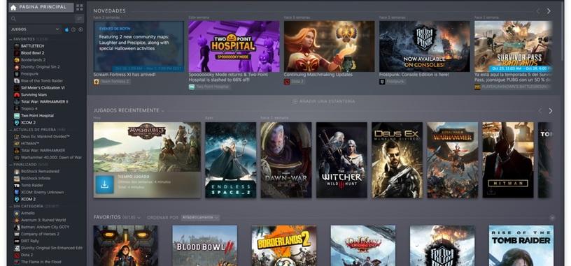 Ya está disponible la nueva interfaz de la biblioteca de Steam
