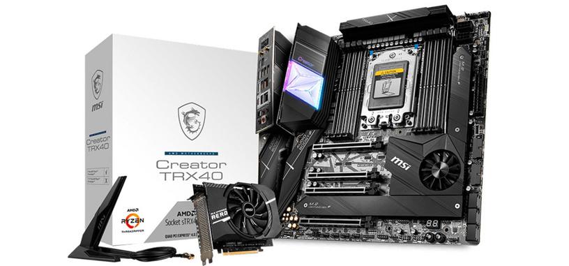 MSI presenta tres placas base TRX40 para los Threadripper 3000