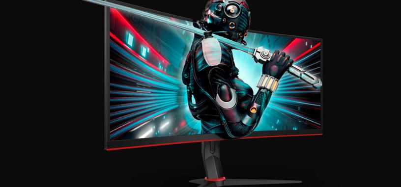 AOC pone a la venta los monitores CU34G2 y CU34G2X, VA curvo con FreeSync y 144 Hz