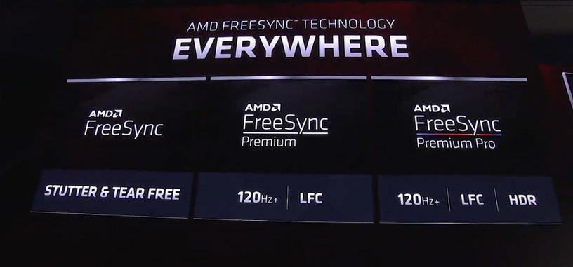 AMD vuelve a renombrar las versiones de FreeSync, añadiendo FreeSync Premium y Premium Pro