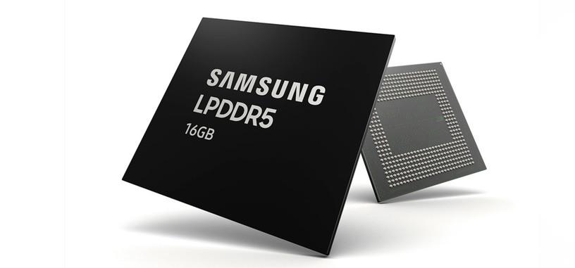 Samsung empieza a producir en masa memoria LPDDR5 de 16 GB