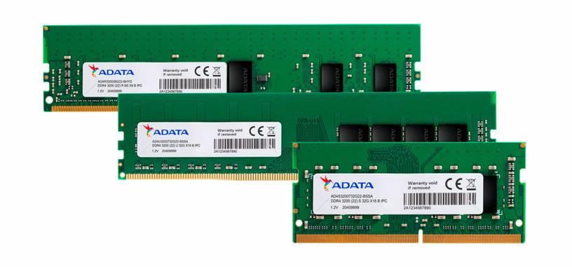 ADATA cuenta con nuevos módulos de 32 GB de memoria DDR4-3200