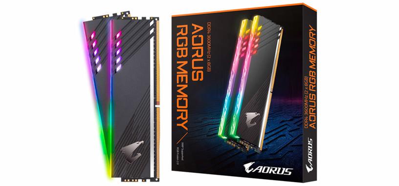 Gigabyte anuncia módulos AORUS RGB de tipo DDR4-3600