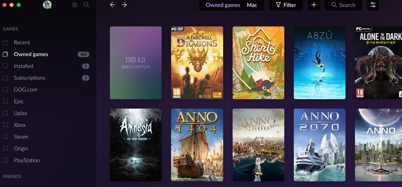 El cliente de GOG añade sincronización con la Epic Games Store