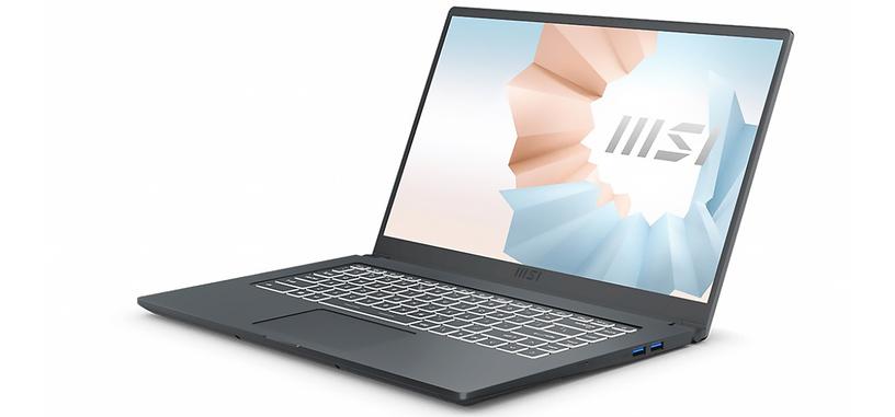 MSI renueva los Modern 14 y 15 con hasta un Core i7-1165G7 y una MX450