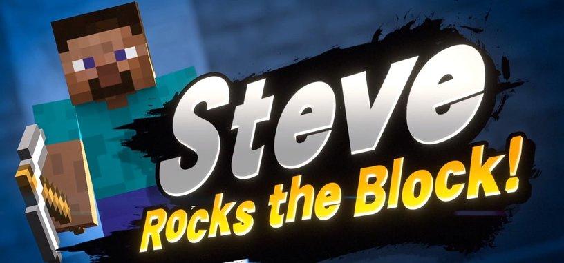 El silencioso Steve de 'Minecraft' luchará a pico y pala en 'Super Smash Bros. Ultimate'