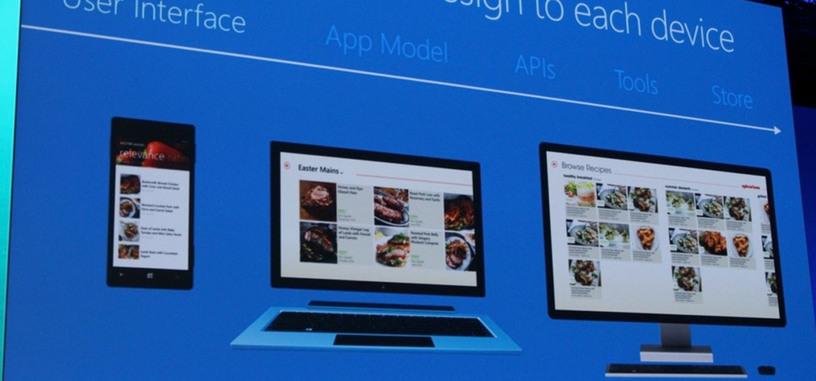 Microsoft presenta las 'aplicaciones universales' de Windows que funcionarán por igual en PC, tabletas y teléfonos