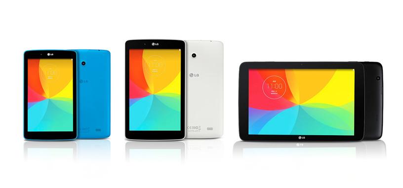 LG prepara tres nuevas tabletas G Pad para cubrir todos los tamaños