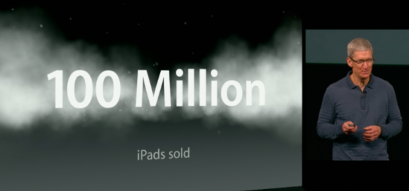 Vender 100 millones de iPads ha hecho que los analistas revisen a la baja las ventas de Apple