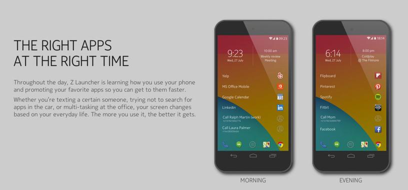 Nokia presenta 'Z Launcher', un nuevo lanzador de aplicaciones contextual para Android