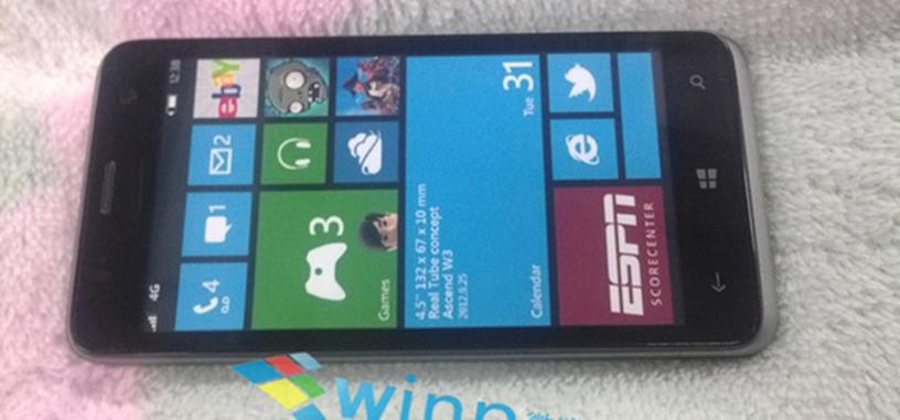 Se filtran imágenes del Huawei Ascend W3, con Windows Phone 8