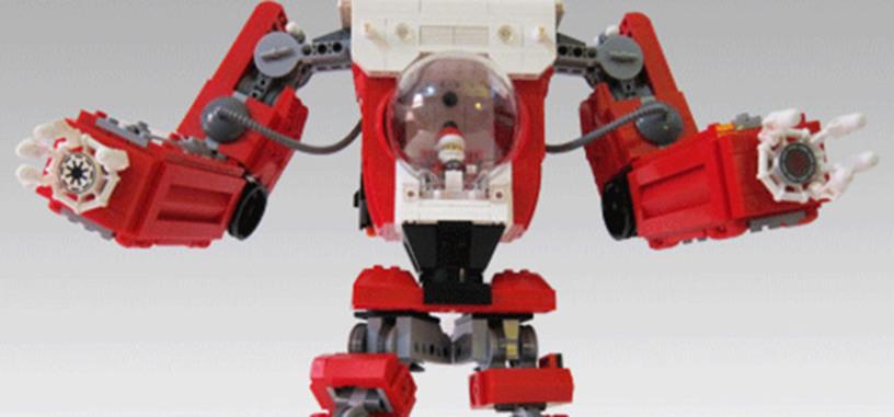 Un fan monta un Lego Santa Claus Mech (será para dar regalos a los niños buenos y castigar a los malos)