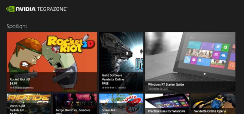 NVIDIA lanza su centro de juegos TegraZone para las tabletas con Windows RT