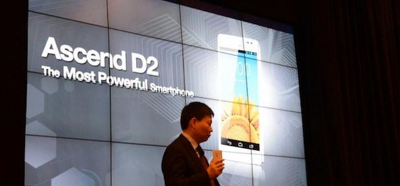 Huawei presenta Ascend D2, su móvil de 5 pulgadas y 1080p