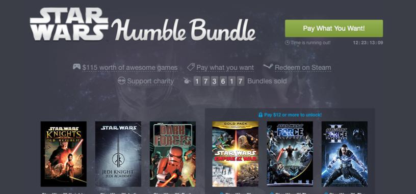 'Star Wars Humble Bundle' ya ha recaudado 2 M$, paga lo que quieras por 9 juegos