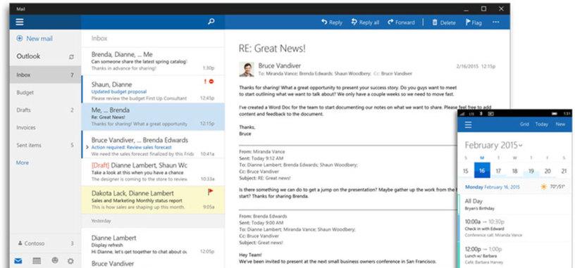 Microsoft Office será gratuito para dispositivos con pantalla de 10,1 pulgadas o menos