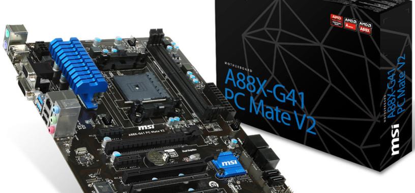 MSI presenta 8 placas base para las APUs 'Godavari' de AMD