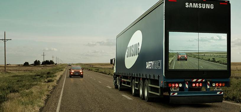 Esta idea de Samsung para camiones puede mejorar la seguridad en adelantamientos