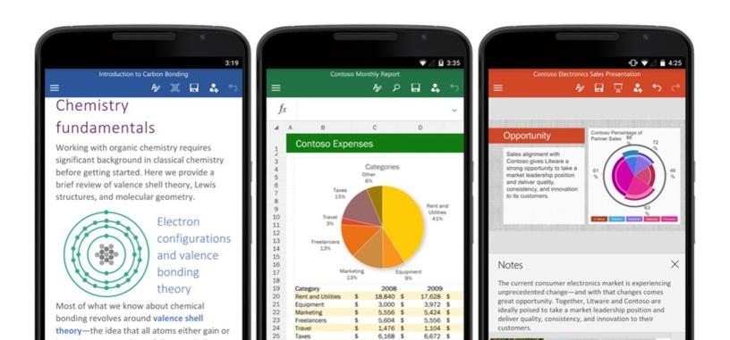 Microsoft Office ya está disponible para teléfonos Android