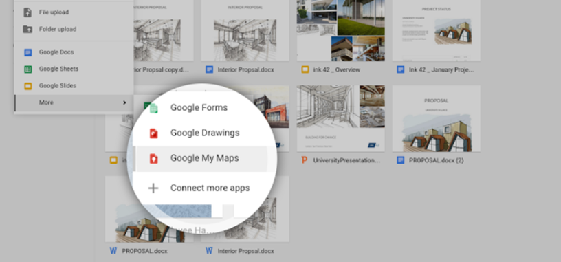 My Maps te permite crear y gestionar tus mapas personalizados desde Google Drive