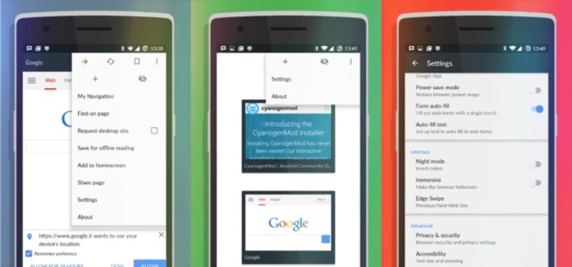 Cyanogen está trabajando en Gello, un nuevo navegador basado en Chromium