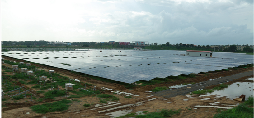 La India muestra el primer aeropuerto que funciona totalmente mediante energía solar