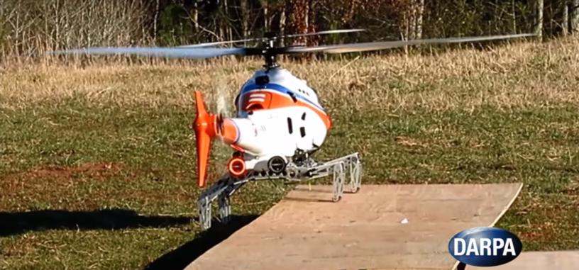 Un tren de aterrizaje para helicópteros permite que aterricen en terreno irregular
