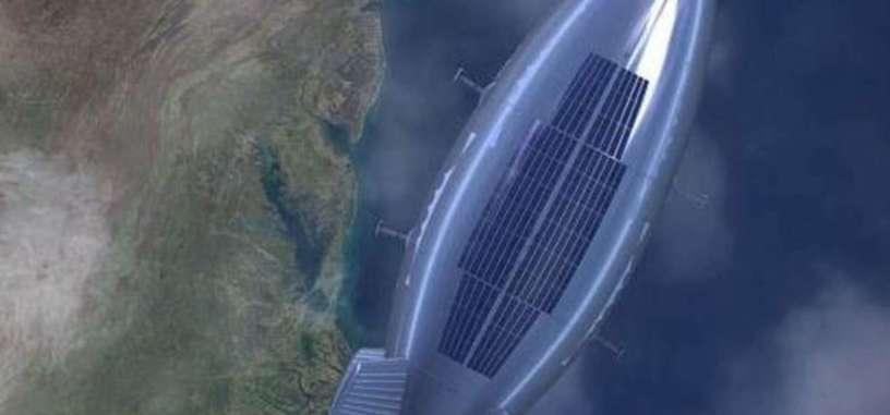 Este dirigible es capaz de estar volando durante 6 meses gracias a paneles solares