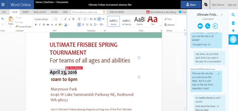 Microsoft integra Office Online con Skype y Chrome