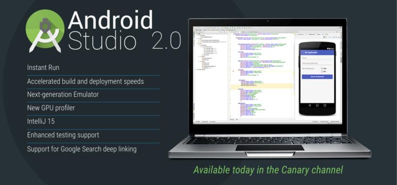 Google presenta Android Studio 2.0, con mejoras de rendimiento al emulador