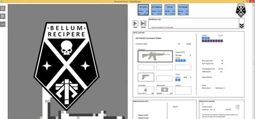 Alguien que se aburría mucho crea un juego de XCOM para Excel