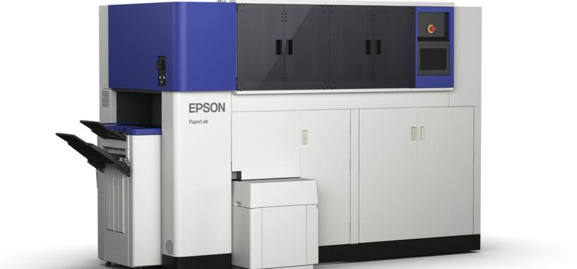 Epson PaperLab convertirá el papel usado de la oficina en folios blancos reciclados