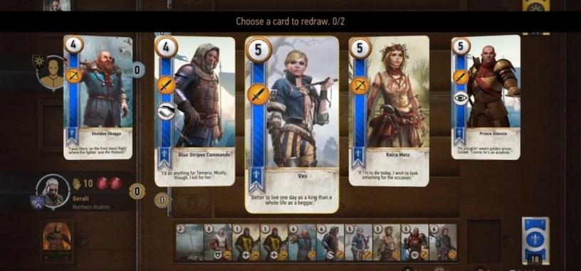 Sustituye todos los combates de 'The Witcher 3' por una partida de cartas con este mod