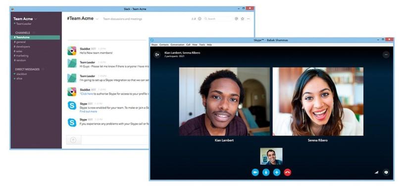 Microsoft lanza la integración de Skype para Slack