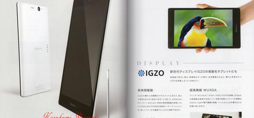 Aquos Pad SH-08E, el primer dispositivo con pantalla IGZO saldrá a la venta en Japón en el verano