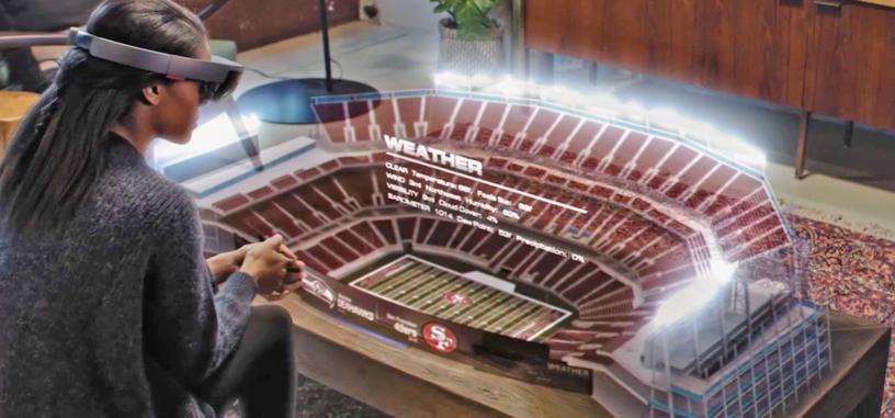 Microsoft imagina cómo será el uso de HoloLens para los aficionados de la NFL