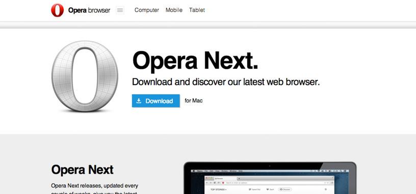 Ya está disponible la nueva versión de Opera basado en el motor WebKit