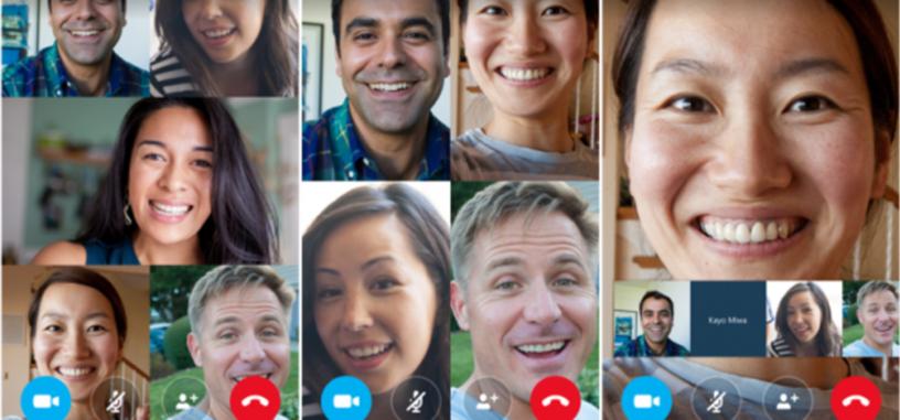 Las videollamadas en grupo llegan a la aplicación de Skype para teléfonos