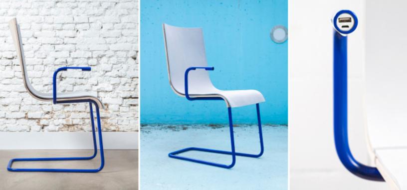 Esta silla convierte tu hiperactividad en energía para cargar el móvil