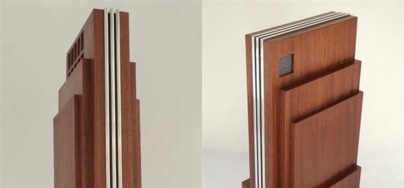 Este ordenador se cubre de madera para parecer un rascacielos de estilo art déco