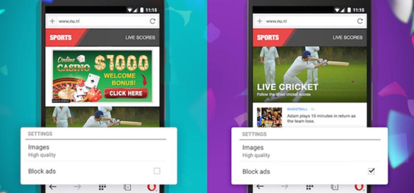 El navegador Opera para PC y Android se apunta al bloqueo nativo de anuncios